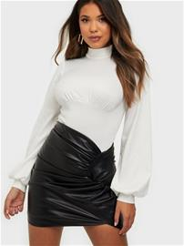 NLY One Wrapped PU Skirt