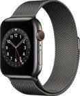 Apple Watch Series 6 GPS + Cellular grafiitinharmaa ruostumaton teräskuori 44 mm grafiitinharmaa milanolaisranneke M09J3KS/A
