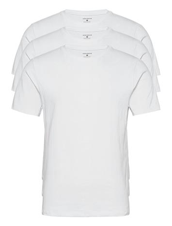 Björn Borg Tee Thomas Solid T-shirts Short-sleeved Valkoinen Björn Borg BRILLIANT WHITE