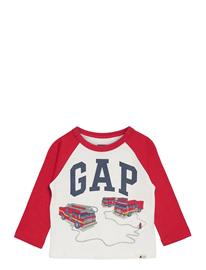 GAP Toddler Mix And Match Gap Logo Graphic Shirt T-shirts Long-sleeved T-shirts Valkoinen GAP NEW OFF WHITE