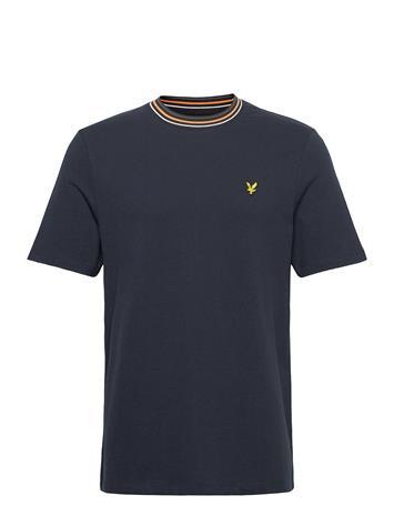 Lyle & Scott Tipped Ringer Tshirt T-shirts Short-sleeved Sininen Lyle & Scott DARK NAVY