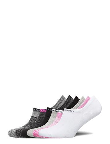 Calvin Klein Ck Women Liner 6p Logo Varrettomat Sukat Urheilusukat/Ankle Socks Vaaleanpunainen Calvin Klein PINK COMBO