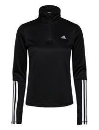 adidas Performance W Iw 1/4 Ls Outerwear Sport Jackets Musta Adidas Performance BLACK/WHITE