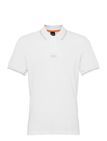 BOSS Pchup Polos Short-sleeved Valkoinen BOSS WHITE