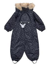Wheat Snowsuit Nickie Tech Outerwear Snow/ski Clothing Snow/ski Suits & Sets Sininen Wheat SKIING