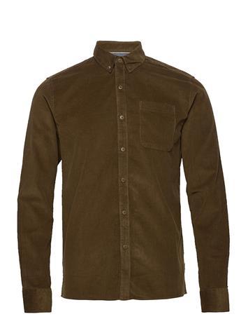 Solid 6200618, Shirt - Sdjuan Ls Corduroy Paita Rento Casual Vihreä Solid CAPERS