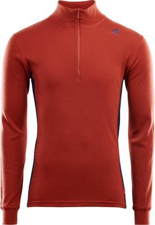 Aclima WarmWool alusvaatteet Miehet, red ochre/navy blazer