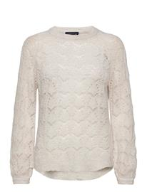 Lexington Clothing Bridget Wool Sweater Neulepaita Kermanvärinen Lexington Clothing OFFWHITE