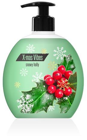 X-mas Vibes Snowy Holly 500 ml nestesaippua