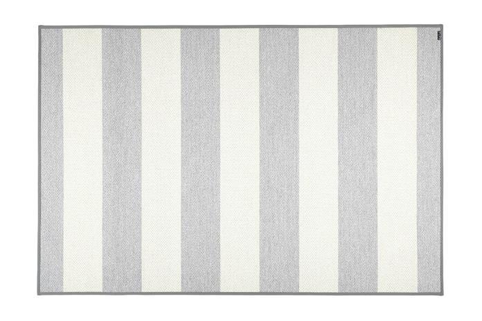 VM Carpet Viiva -matto, harmaa-valkoinen, 80 x 250 cm