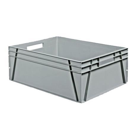 Schoeller Allibert Euroback 6491 Kuljetuslaatikko harmaa, kera tarttumisaukkoja 800x600x300 mm