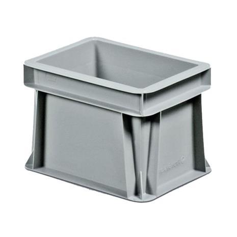 Schoeller Allibert Euroback 6496 Kuljetuslaatikko harmaa, ilman tarttumisaukkoja 200x150x145 mm