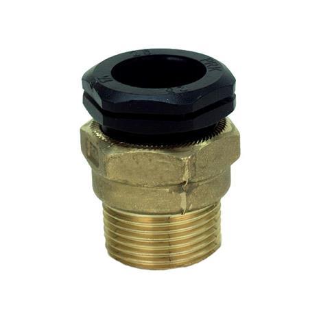 TA 3004012022 PEM-liitin metallinen, suora, muovinen ulkokierre 16 x G15