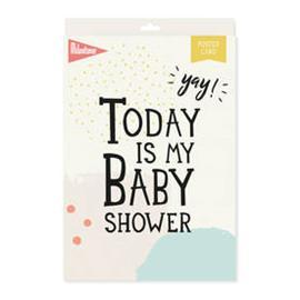Milestone Baby Shower Poster Card
