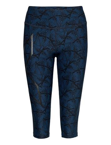 2XU Print Mid-Rise Comp 3/4 Tights-W Running/training Tights Sininen 2XU BUTTERFLY EFFECT POSEIDON/NERO