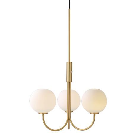 Herstal Herstal-Ballon Pendant, Brass/White