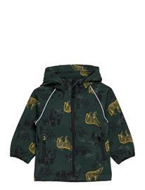 name it Nmmalfa Jacket Animal Mix Fo Outerwear Rainwear Jackets Vihreä Name It DARKEST SPRUCE, Lastenvaatteet