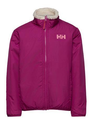 Helly Hansen K Reversible Pile Jacket Outerwear Jackets & Coats Windbreaker Vaaleanpunainen Helly Hansen FESTIVAL FUCHSIA