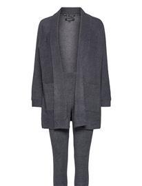 DKNY Homewear Dkny All About Layers L/S Cozy & Legging Pyjama Harmaa DKNY Homewear CHARCOAL HEATHER