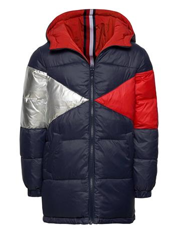 Tommy Hilfiger Reversible Iconic Pu Vuorillinen Takki Topattu Takki Sininen Tommy Hilfiger TWILIGHT NAVY