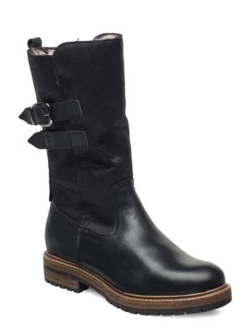 Tamaris Woms Boots Shoes Boots Ankle Boots Ankle Boot - Flat Musta Tamaris BLACK COMB