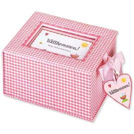 Coppenrath Muistolaatikko Wilkommen vaaleanpunainen