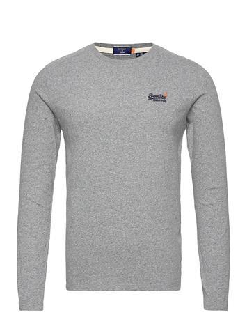 Superdry Ol Vintage Emb Ls Top Ns T-shirts Long-sleeved Harmaa Superdry GREY MARL