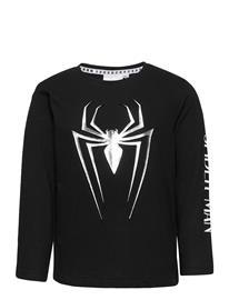 Marvel T-Shirt T-shirts Long-sleeved Musta Marvel BLACK