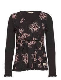 ODD MOLLY Malvina L/S Top T-shirts & Tops Long-sleeved Musta ODD MOLLY ALMOST BLACK