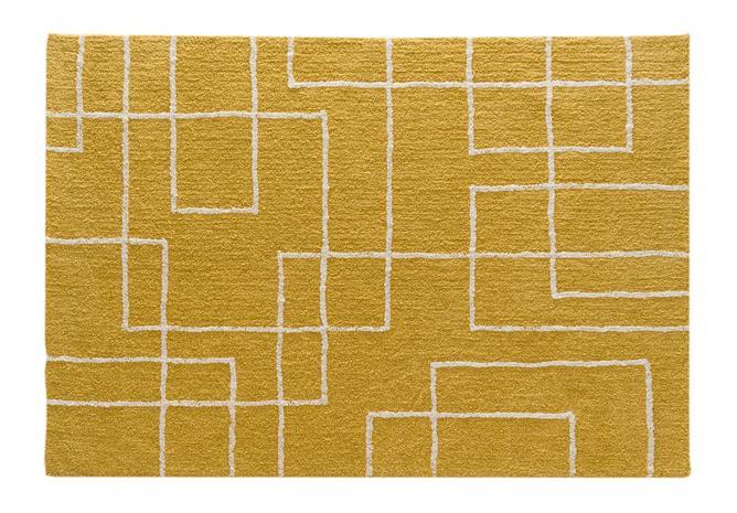 KOODI Metro - nukkamatto, sinappikeltainen, 200 x 290 cm