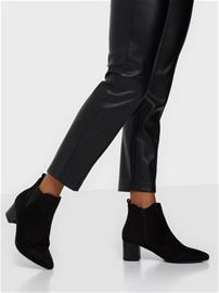 Duffy Heeled Chelsea Boots Musta