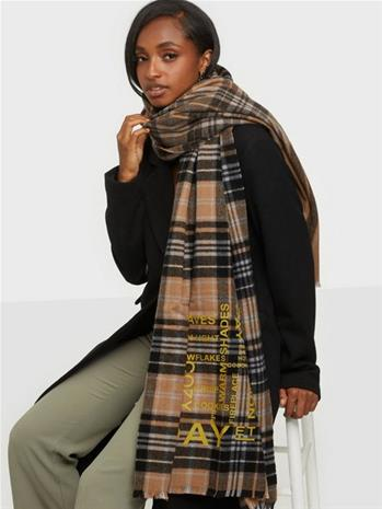DAY ET Day Check Text Woven scarf