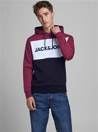 Jack&Jones Huppari Logo musta/viininpun