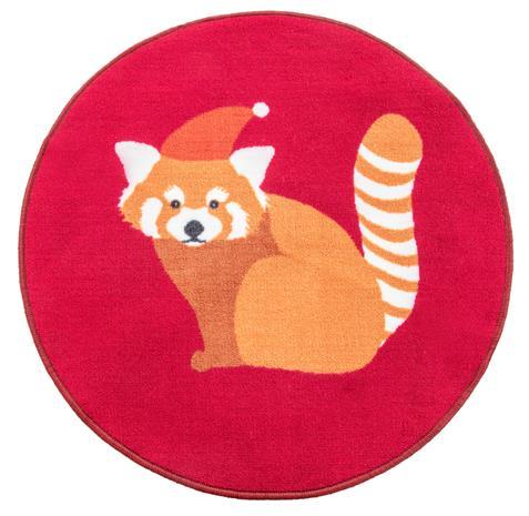 Vallila Pikkupanda -matto, punainen, ä˜ 80 cm