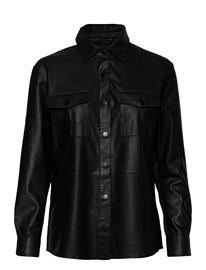 DEPECHE Shirt W Buttons Pitkähihainen Paita Musta DEPECHE BLACK