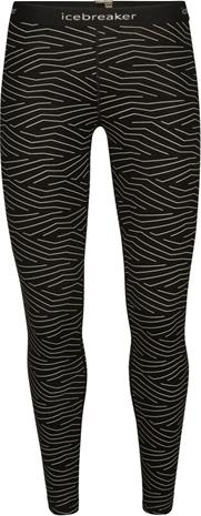 Icebreaker 200 Oasis Napasoq Lines Leggings Women, black