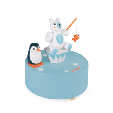 Janod ® Musiikkilaatikko jääkarhu pingviinillä