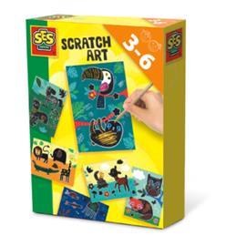 SES Creative® Scratch Art -eläimet