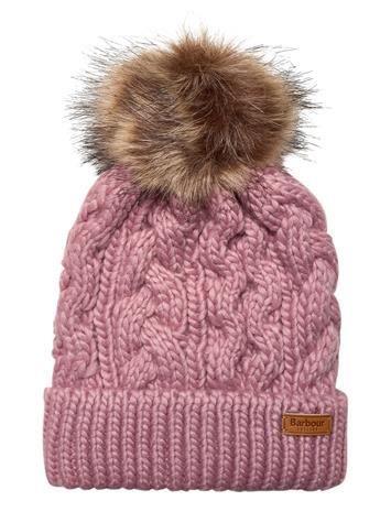 Barbour Barbour Penshaw Beanie Accessories Headwear Beanies Vaaleanpunainen Barbour PINK