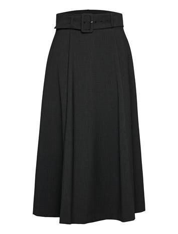 Ivy & Oak Belted Skirt Polvipituinen Mekko Musta Ivy & Oak ANTHRACITE