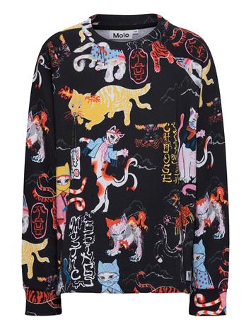 Molo Mary T-shirts Long-sleeved T-shirts Musta Molo MYSTIC BEINGS DARK