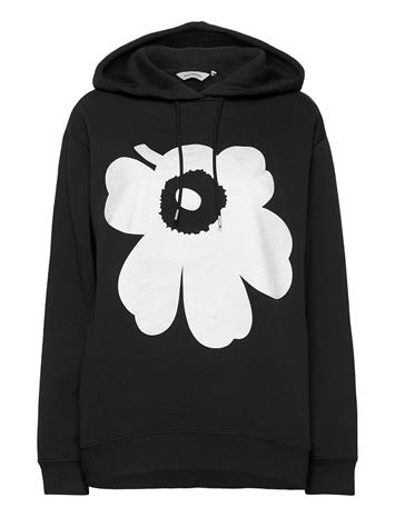 Marimekko Runoja Unikko Shirt Huppari Musta Marimekko BLACK, SILVER