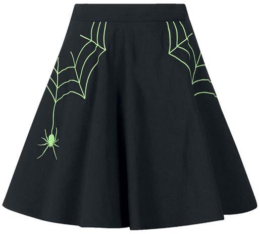 Hell Bunny - Miss Muffet Mini Skirt - Lyhyt hame - Naiset - Musta