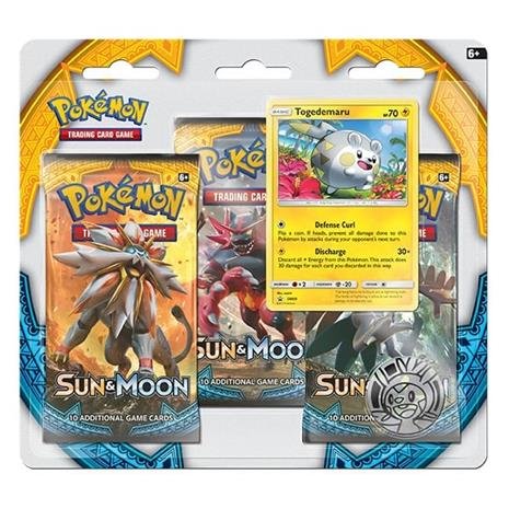 Pokemon SM1: Sun & Moon 3-Pack Blister: Togedemaru