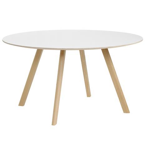 Hay CPH25 pyöreä pöytä 140 cm, mattalakattu tammi - valk. laminaatti