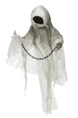 Halloween Ghost w. Chain - Sound, Light and Movement (90092)