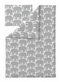 Finlayson Elefantti -pussilakanasetti, harmaa, 85 x 125 + 40 x 60 cm