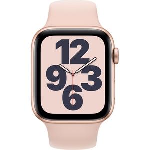 Apple Watch SE GPS kullanvärinen alumiinikuori 44 mm hietaroosa urheiluranneke MYDR2KS/A