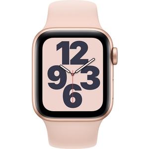 Apple Watch SE GPS hopeanvärinen alumiinikuori 40 mm valkoinen urheiluranneke MYDM2KS/A