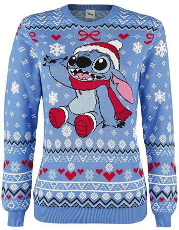 Lilo & Stitch - Mele Kalikimaka - Jouluneule - Naiset - Sininen
